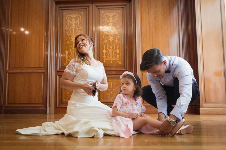 Preparativos novia hija Palacio Monte Miramar Málaga Boda Alba y Paco