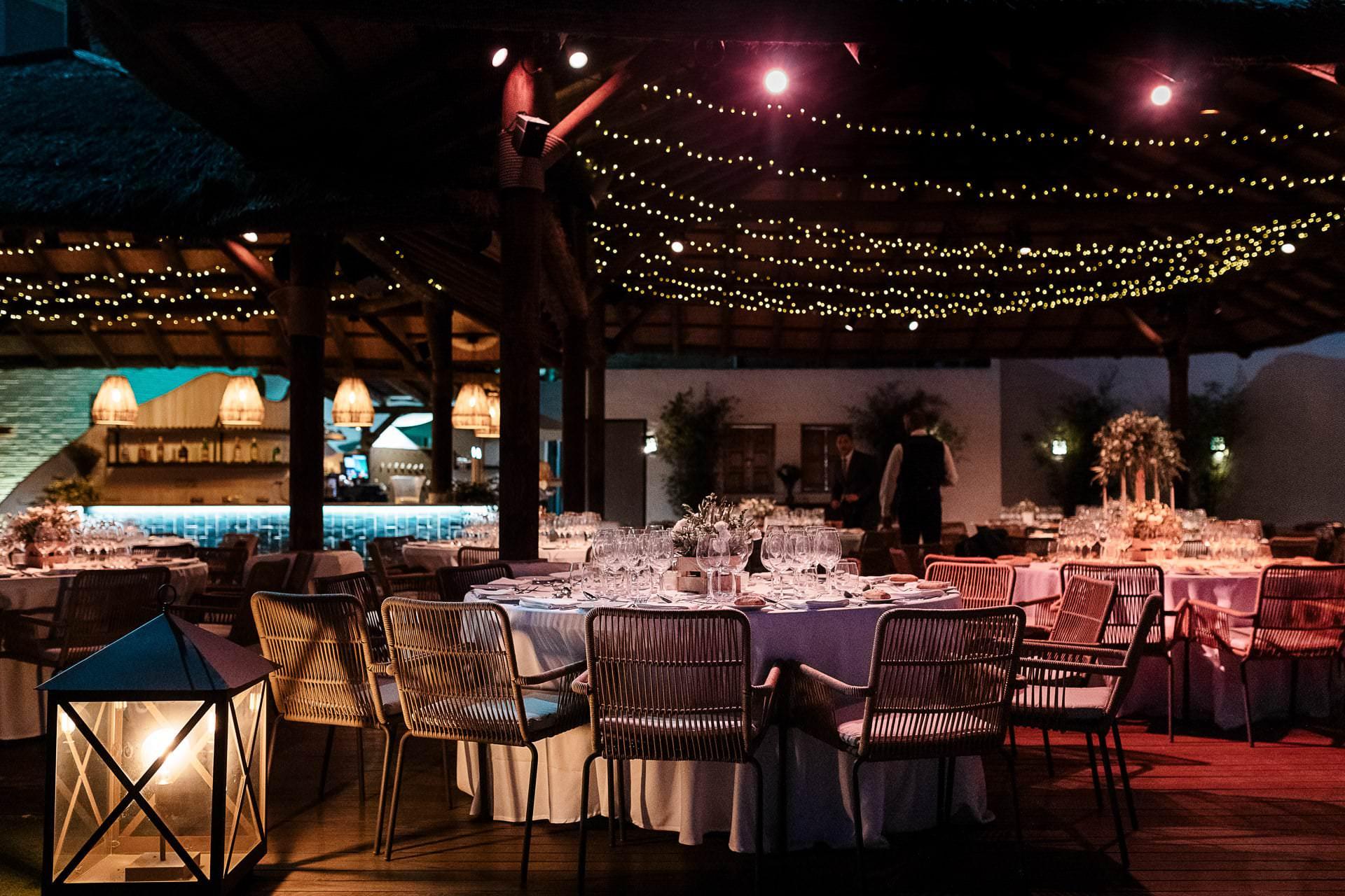 Montaje de boda palapa de Candado Beach Málaga
