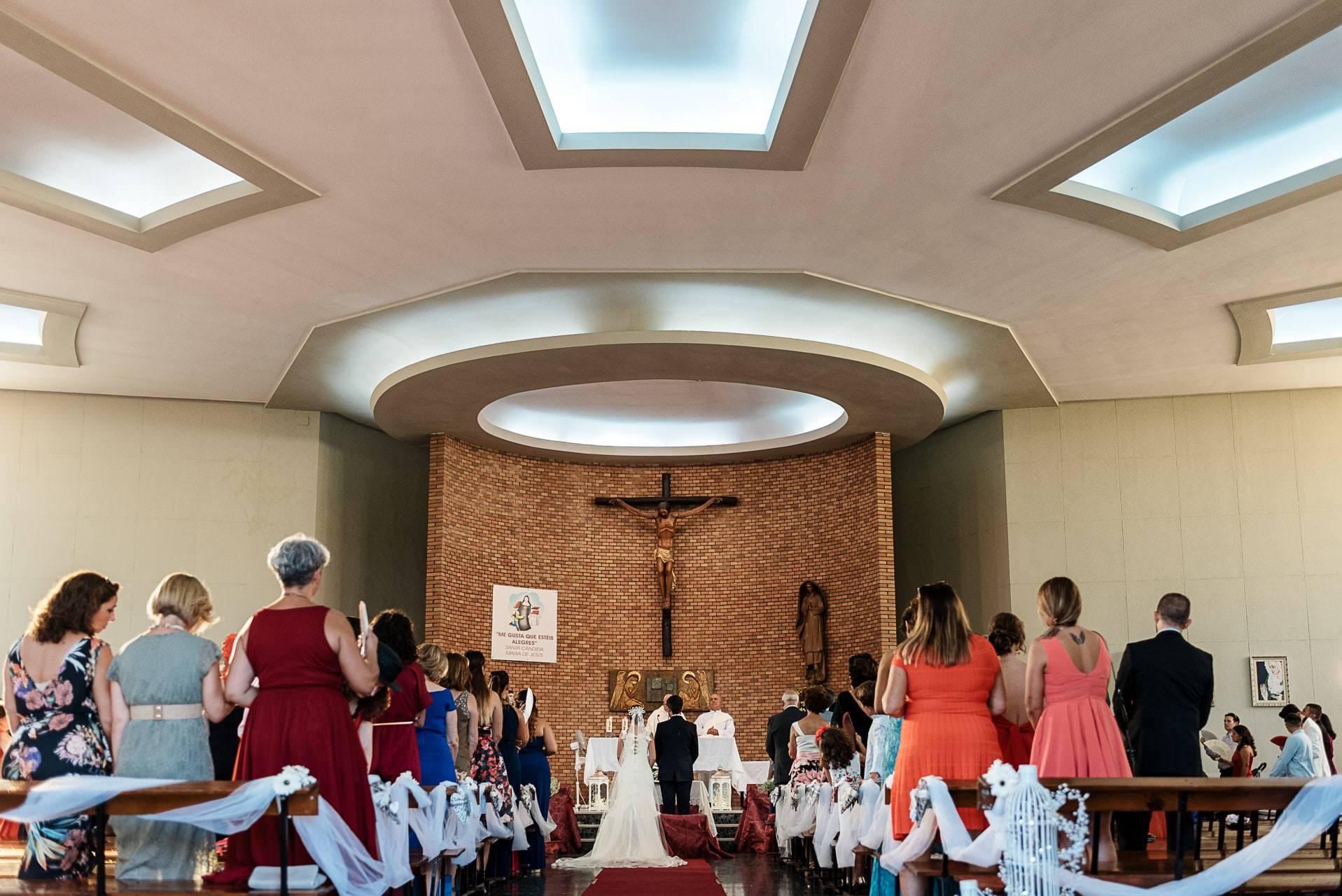 Ceremonia religiosa Boda Colegio Gamarra Málaga