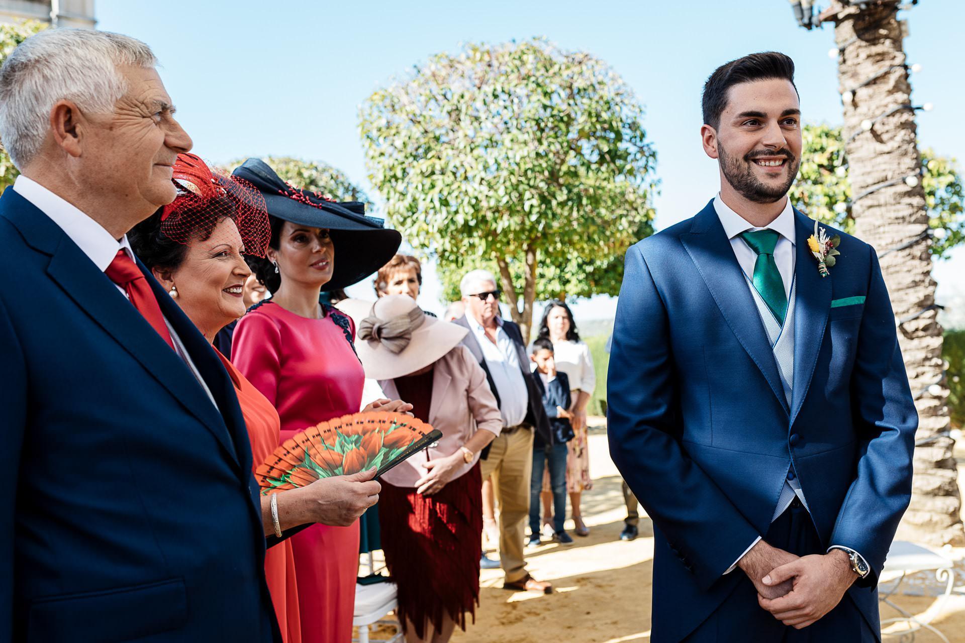 Llegada novio ceremonia civil Boda Córdoba