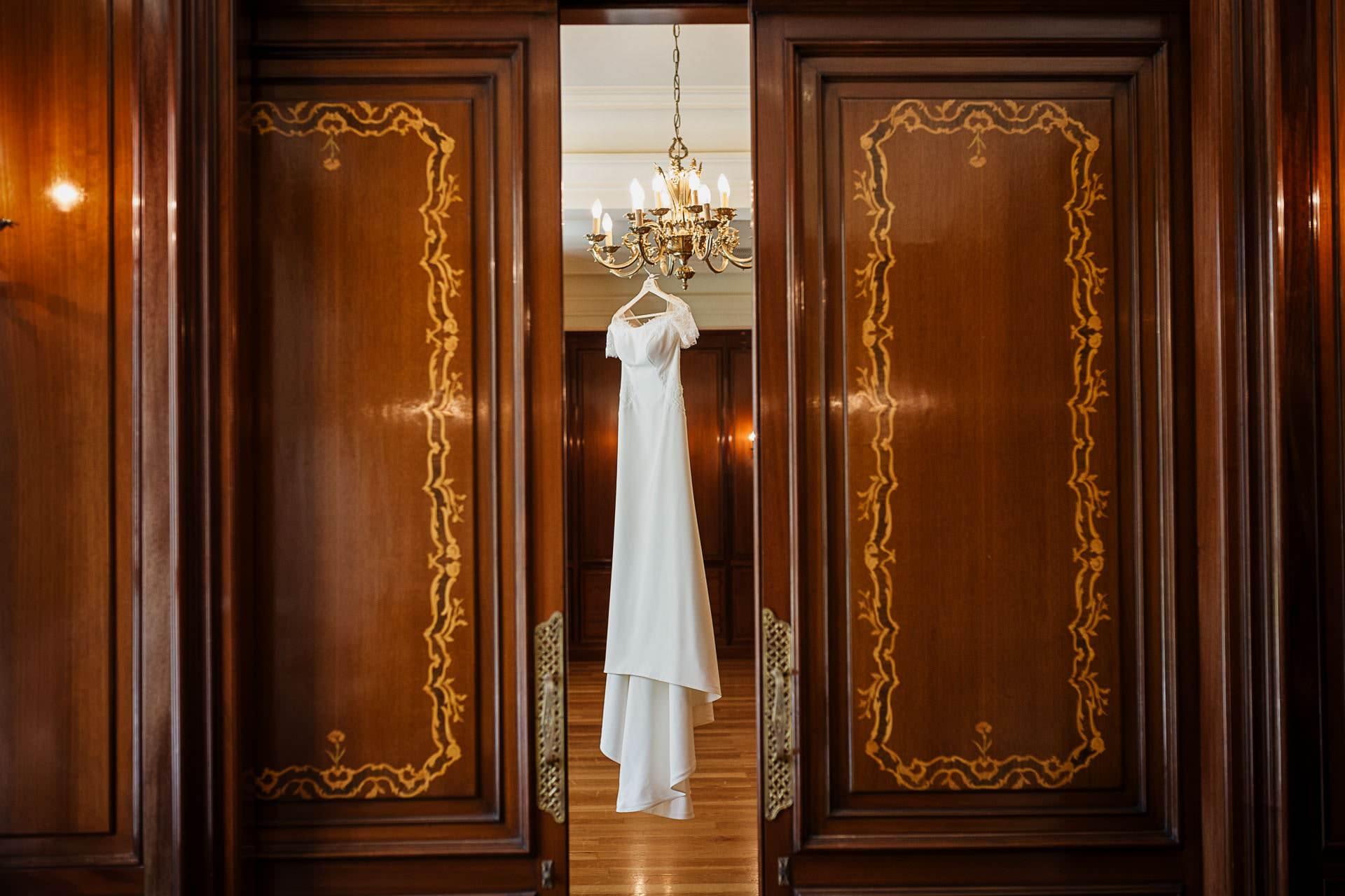 Vestido de novia Boda Palacio Monte Miramar